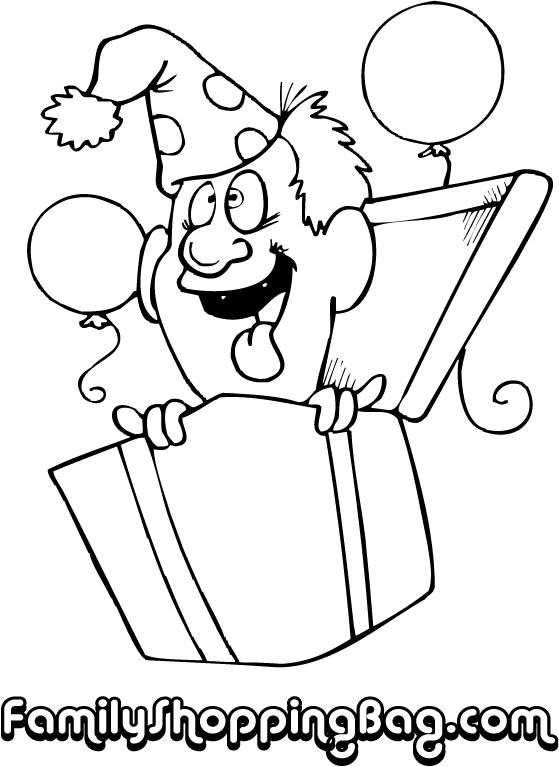 Goofy Man In Gift Box 493969