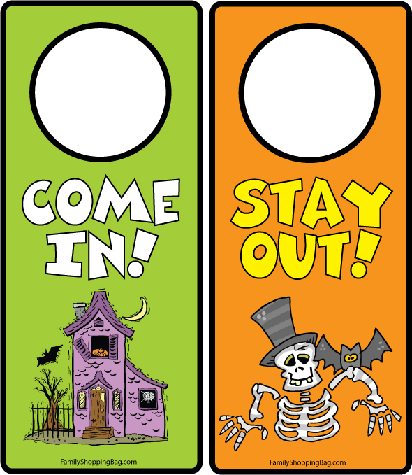 Decorating Ideas > HalloweenDoorHanger850445jpg ~ 114701_Halloween Door Hangers Printable