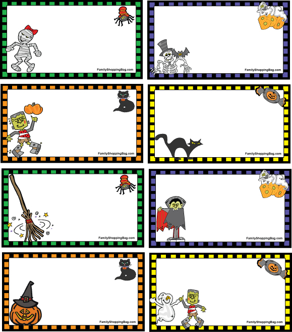 Dramatic image within free printable halloween tags