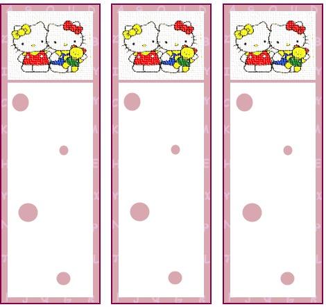 hello kitty invitations free. Hello Kitty Bookmarks 2 -