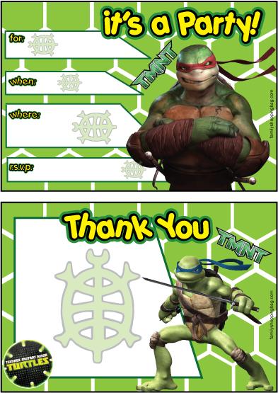 Ninja Turtle Printable Invitations is Unique Ideas To Create Perfect Invitations Sample