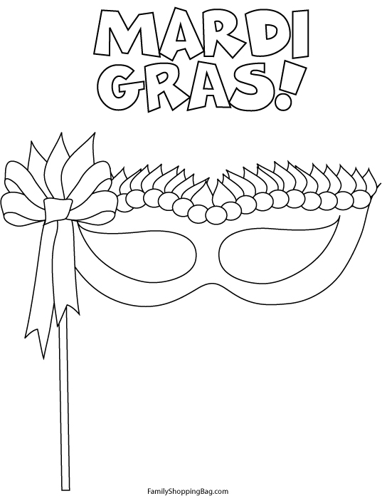 fat tuesday coloring pages - photo #15