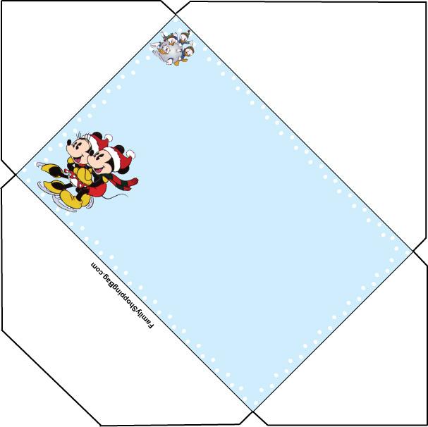Envelope de Natal - Mickey e Minnie - Atividades Educativas
