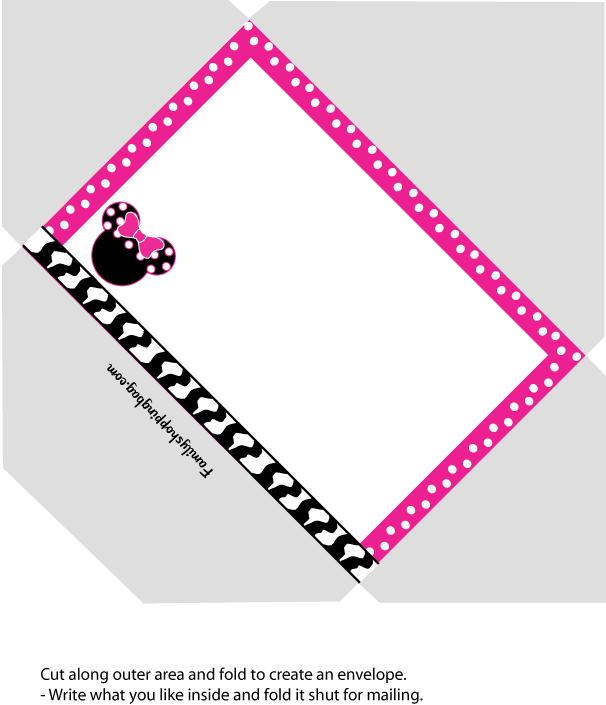 image about Disney Printable Envelopes named Minnie Envelope Invites