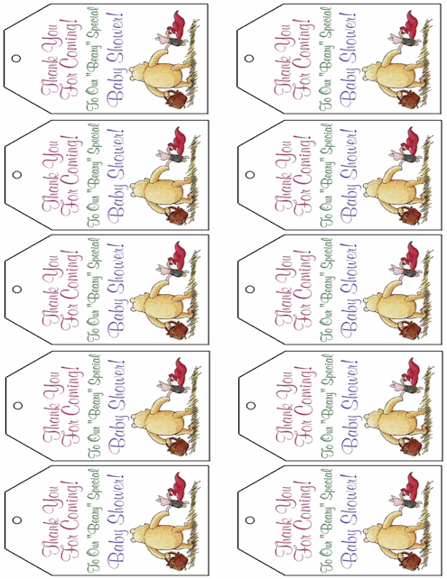 baby shower favor tags templates free printable baby girl boy baby