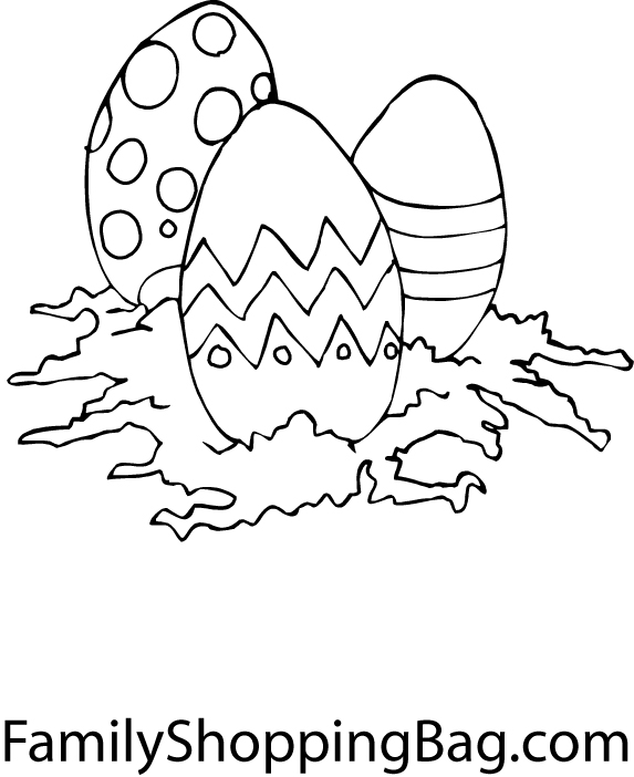 pictures of easter eggs to colour in. easter eggs colouring in
