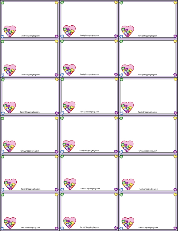 valentines name tags