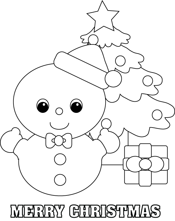childrens coloring pages snowman free - photo#33