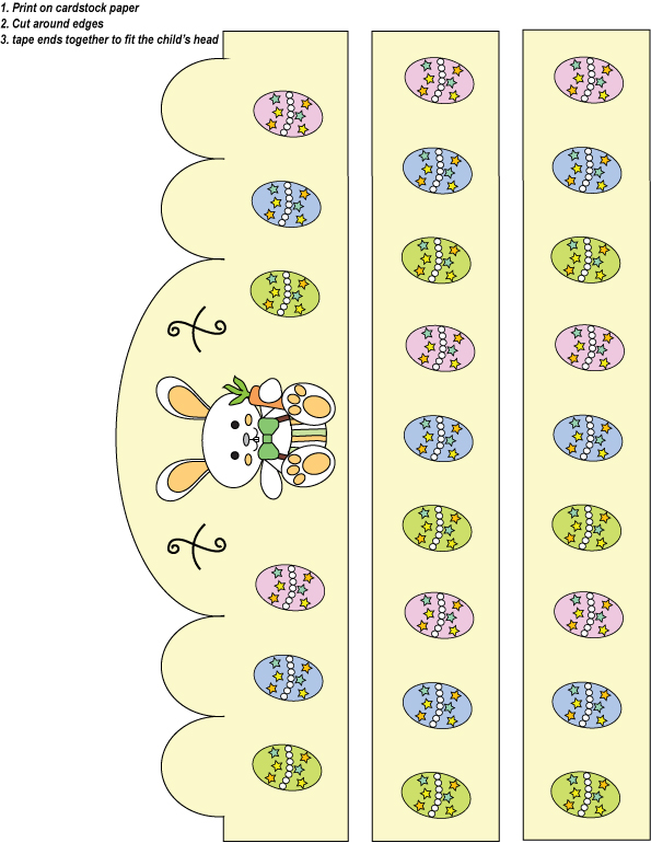 easter hat template printable -