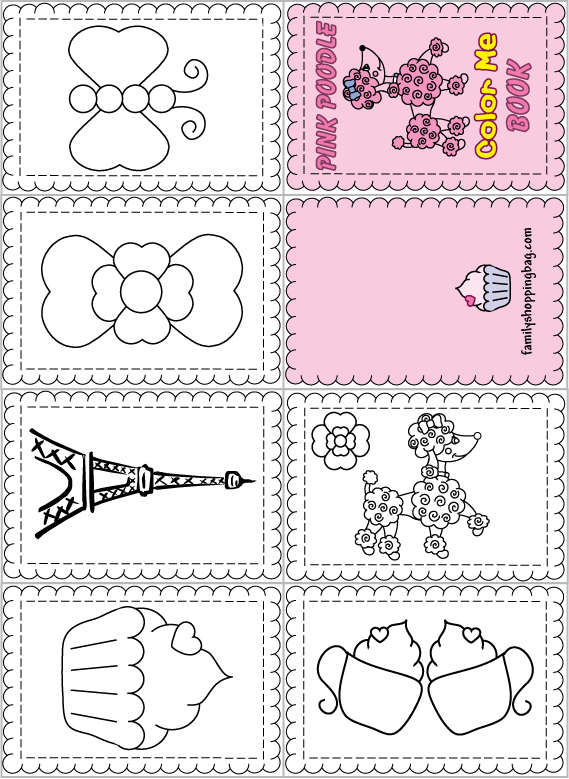 mini books coloring pages - photo#5