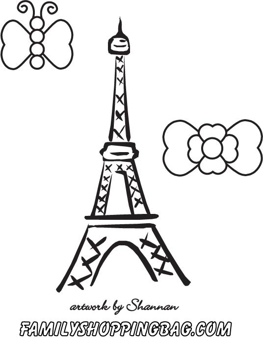 free printable coloring pages paris - photo#4