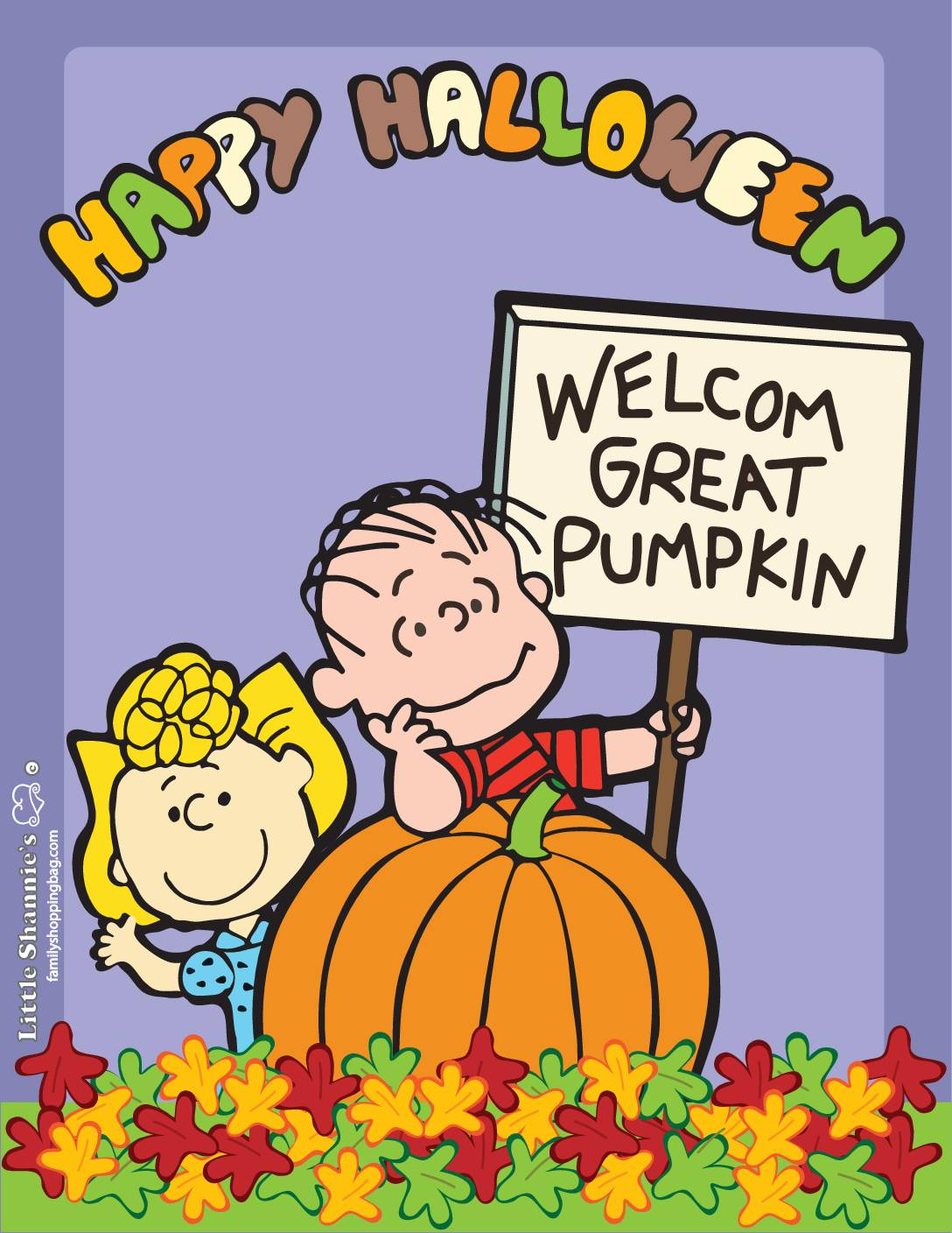 Wall Picture Peanuts Halloween