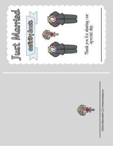 Wedding Activity Front Page 1