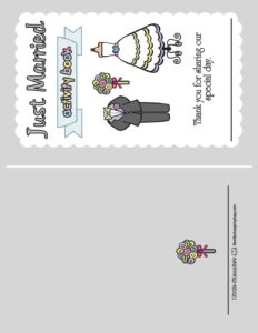 Wedding Activity Front Page 2