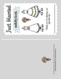 Wedding Activity Front Page 3